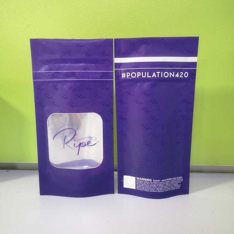 RIPE مايلر نكهة حقيبة عشبة زهرة الناضجة سحاب حقيبة الجاف التبغ حقيبة التجزئة أكياس مايلر قد حان 3.5G أكياس التعبئة والتغليف الطفل والدليل على وظيفة
