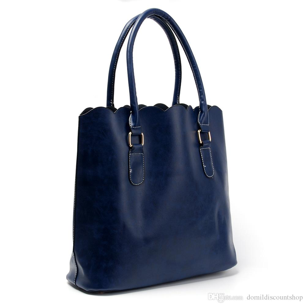Commercio all'ingrosso borsa di design personalizzata casual casual high smerlato con borse blanks tote borsetta grande capacità smerlata moda dom10 tlji