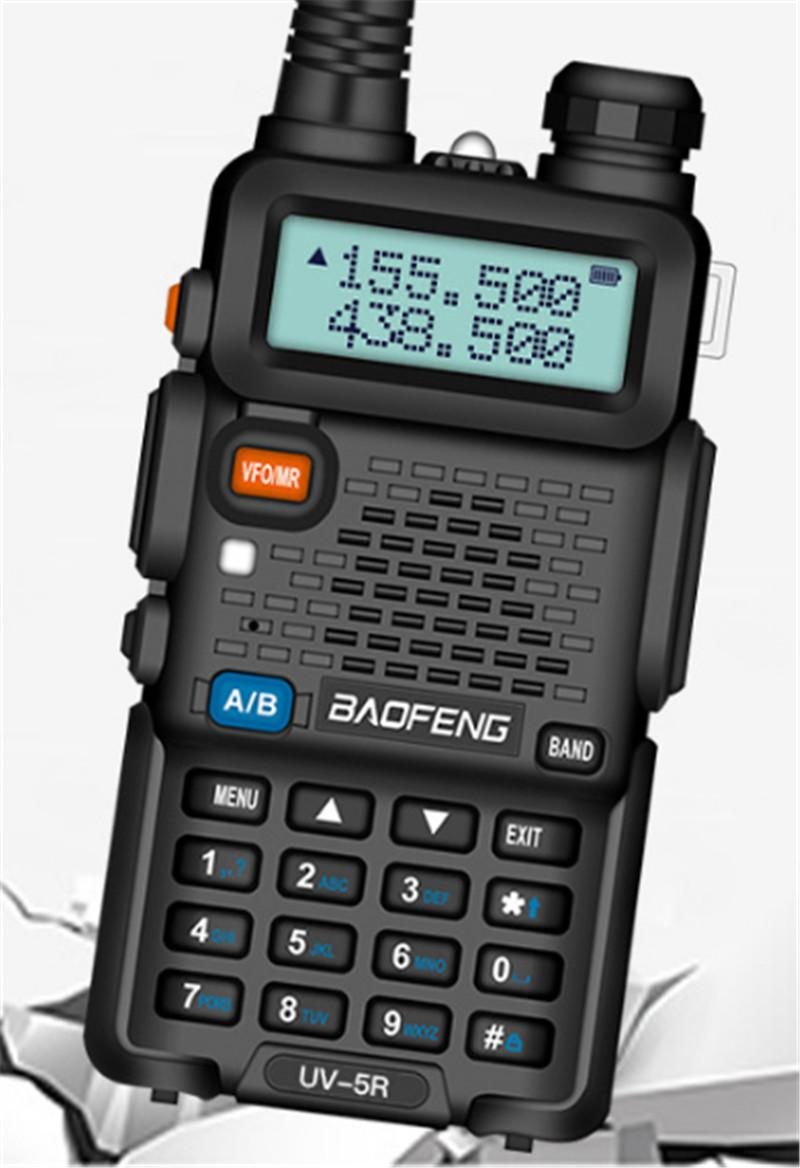 Walkie Talkie BAOFENG BF-UV5R 5W 128CH UHF + VHF 136-174MHZ + 400-480MHz DTMF radio a due vie radio portatile