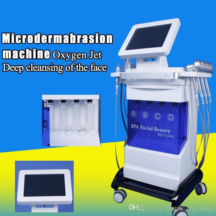 Nuovo modello Strong Power PDT Light Hydra Dermoabrasione RF Bio-lifting Spa viso / Hydro Microdermabrasion Facial Machine / Oxygen Jet