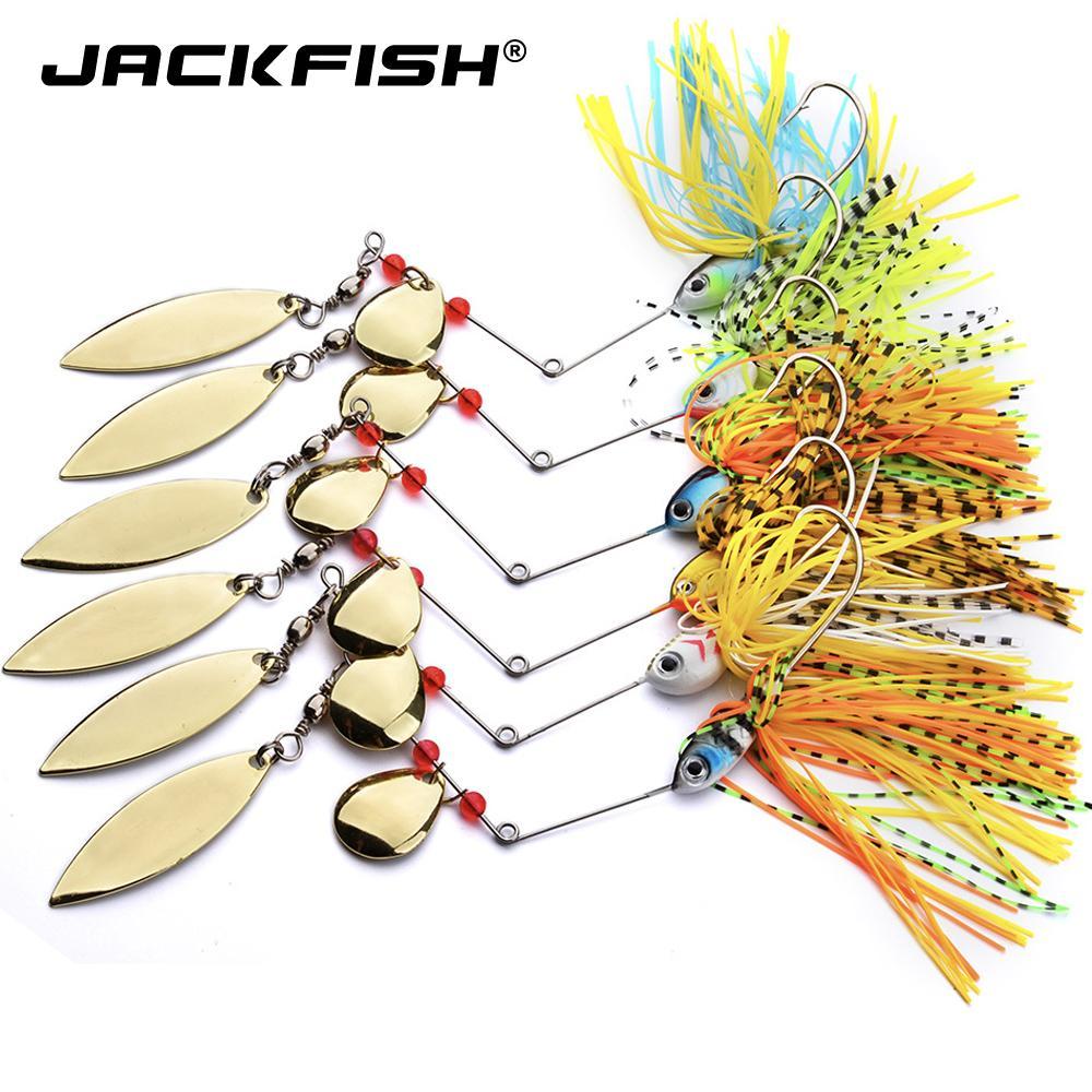 Sert Yem Bıçaklar Kancalar Metal kaşık Balıkçılık Jackfish Spinnerbait 18g buzzbait Ruh Spinner Bait Yemler Balıkçılık Yemler