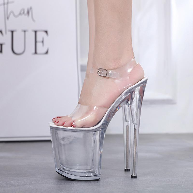 Hot2019 Atmosfera Anno qualità di bellezza della donna Sandali con plateau Baitieshui Rosso Trasparente con le scarpe da Go eccellenti delle donne
