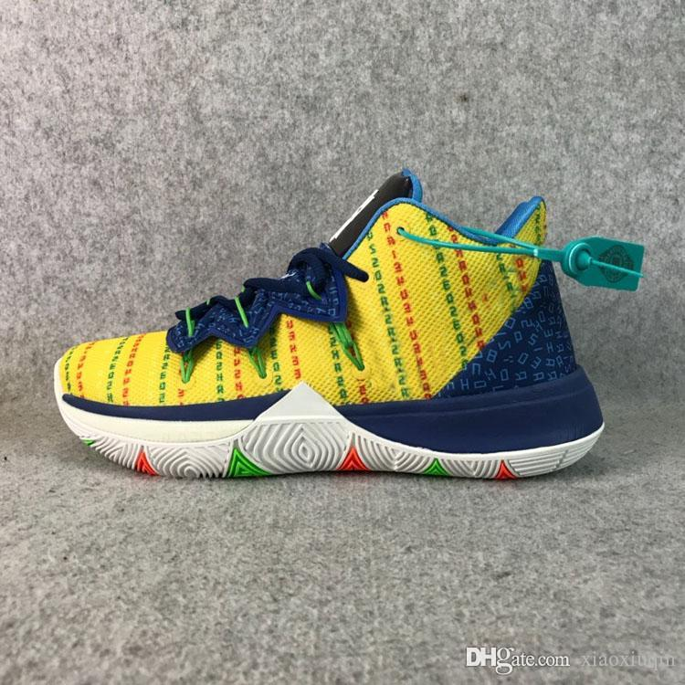 2020 Cheap Mens Kyrie 5 Basketball Shoes Academy Yellow Blue Sponge Pink Green Youth New Lebron James 17 Kyries Irving Sneakers Tennis With Box From Xiaoxiuqin 26 95 Dhgate Com