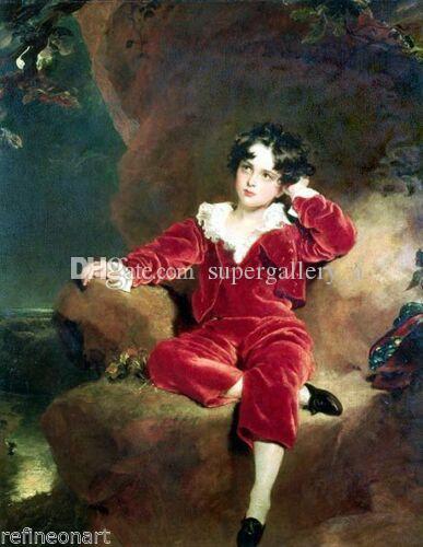 Thomas Lawrence Usta Lambton Ev Duvar Sanatı Dekor Handpainted HD Baskı Yağlıboya Tuval Duvar Sanatı Tuval Resimleri 190828