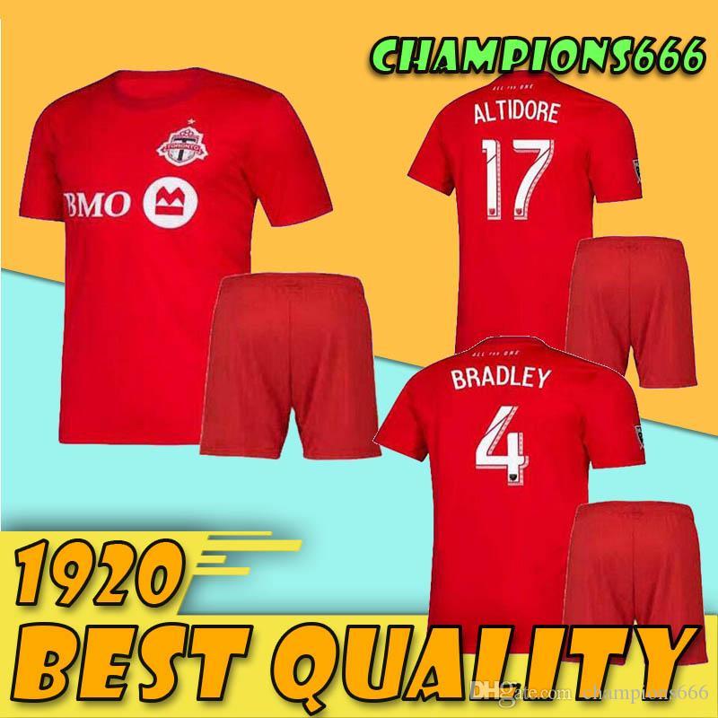 Toronto 19/20 FC Kit Adult Soccer Jersey 2020 Domicile Rouge # 10 POZUELO # 17 ALTIDORE Maillots de foot pour adulte BRADLEY OSORIO uniforme