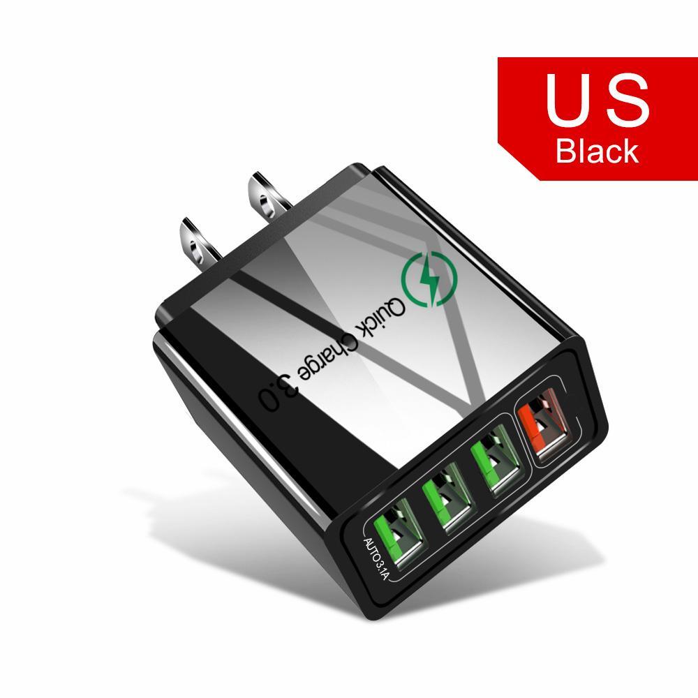 Зарядное устройство для мобильного телефона USB зарядное устройство Quick Charge 3.0 4 USB-порт QC3. 0 быстрая зарядка для Samsung Xiaomi Huawei Tablet Wall Adapter