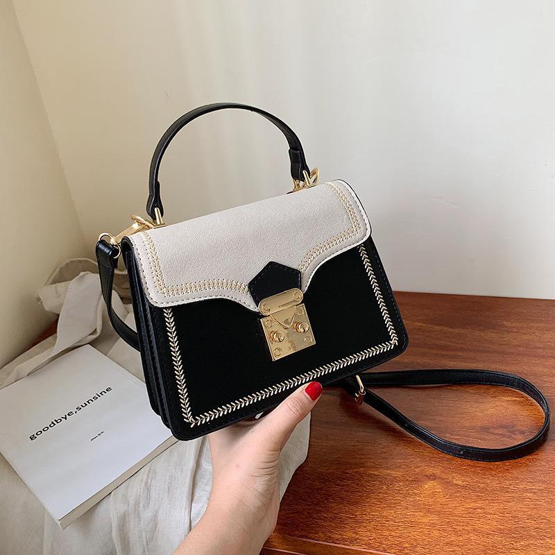 Контраст цвета кожа Crossbody сумка для женщин 2020 Путешествия сумки Простого плеча сумки дама Cross Body Bag
