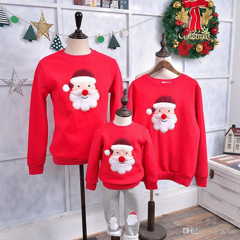 Family Clothing 2019 Winter Sweater Warm Children Clothing Kid shirt Family Matching Outfits