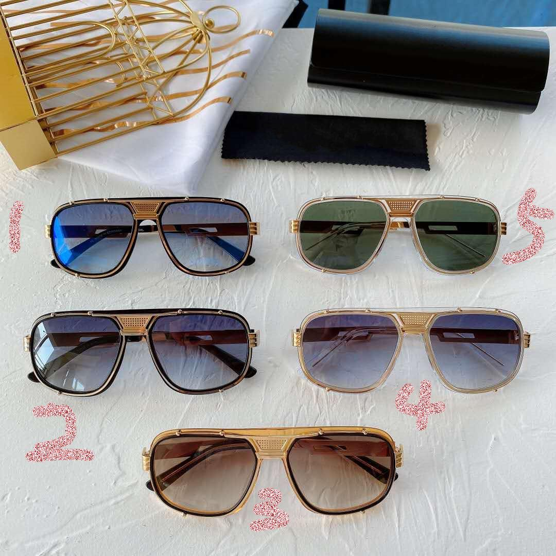 Sunglasses Fashion Trend Metal Frame de Homens MOD665 Original Box Eyewear verão de Nova Mulheres Driving Outing Proteção UV High-end design