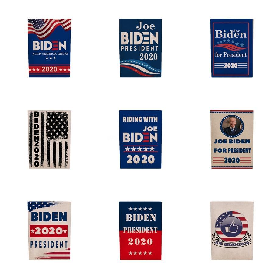 45 * 30cm Donald John Biden Amercia Bayraklar Polyester Kafa Metal Gromet Kişilik Decortive Biden Bayrağı Mma1651 # 403