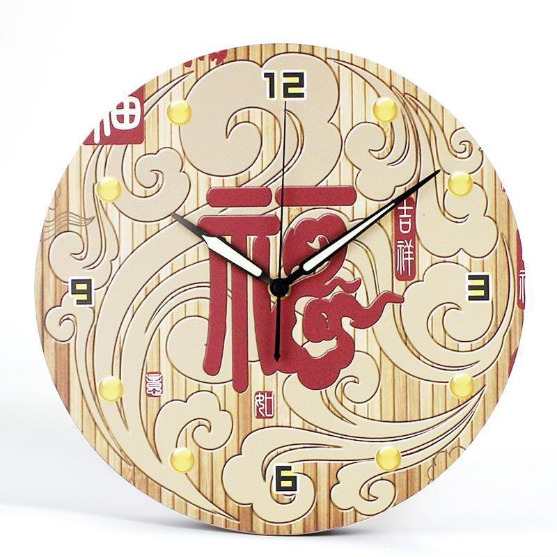 casa de estilo chino gran reloj de pared de diseño moderno decorativo salón relojes reloj de la decoración del hogar del arte de la pared de la cocina de Baño