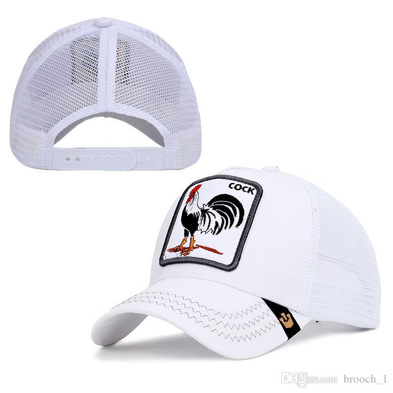 Boné de beisebol costume Hip-hop Street Fashion Personalidade, estilo galo animal bonito de alta qualidade ao ar livre Galo Esporte Hat Caps para mulheres e homens
