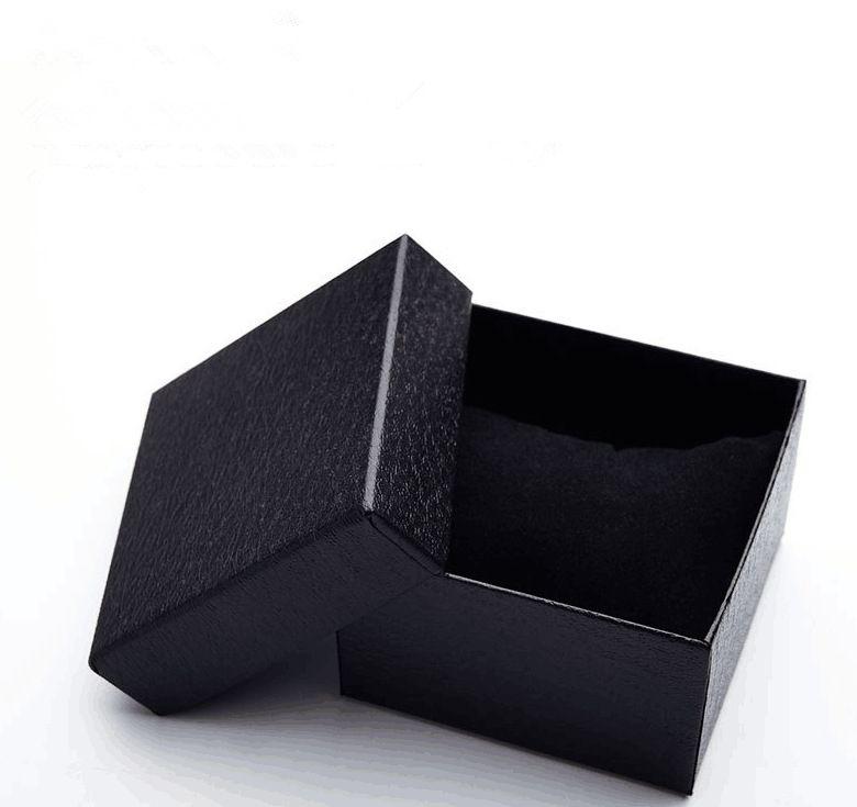 Мода корейский часы Box High End Black Paper Box Личи Pattern Tiandi Обложка Подарочная коробка вахты