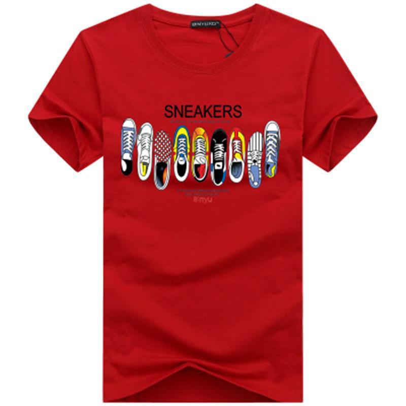 Diseño de lujo camiseta hombre de las camisetas de calidad superior Nueva manera de la marea zapatos Impreso Hombres camiseta Tee Shirts Camisetas Hombres camiseta color múltiple S-5XL0