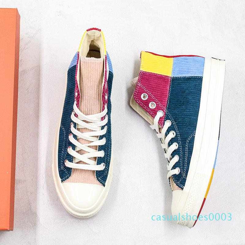 2020 Convas Spring Stitching Colours Casual Shoes High Fashion platform Canvas Sports Shoes Designer Shoe Men Women Leisure Sneaker With Box