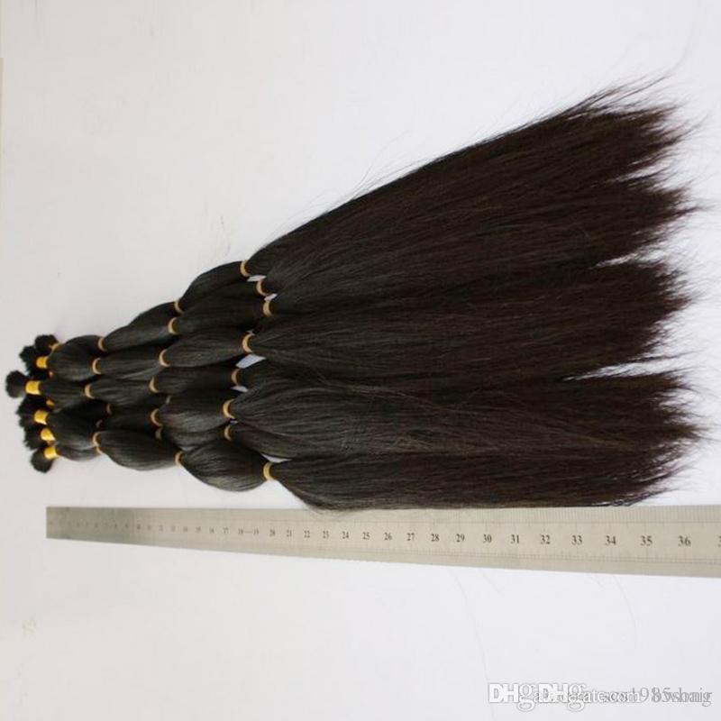 300g 12-28 inch Cheap Naturtal Color raw Unprocessed virgin remy hair Bulk For Braids Peruvian Human Hair Bulk