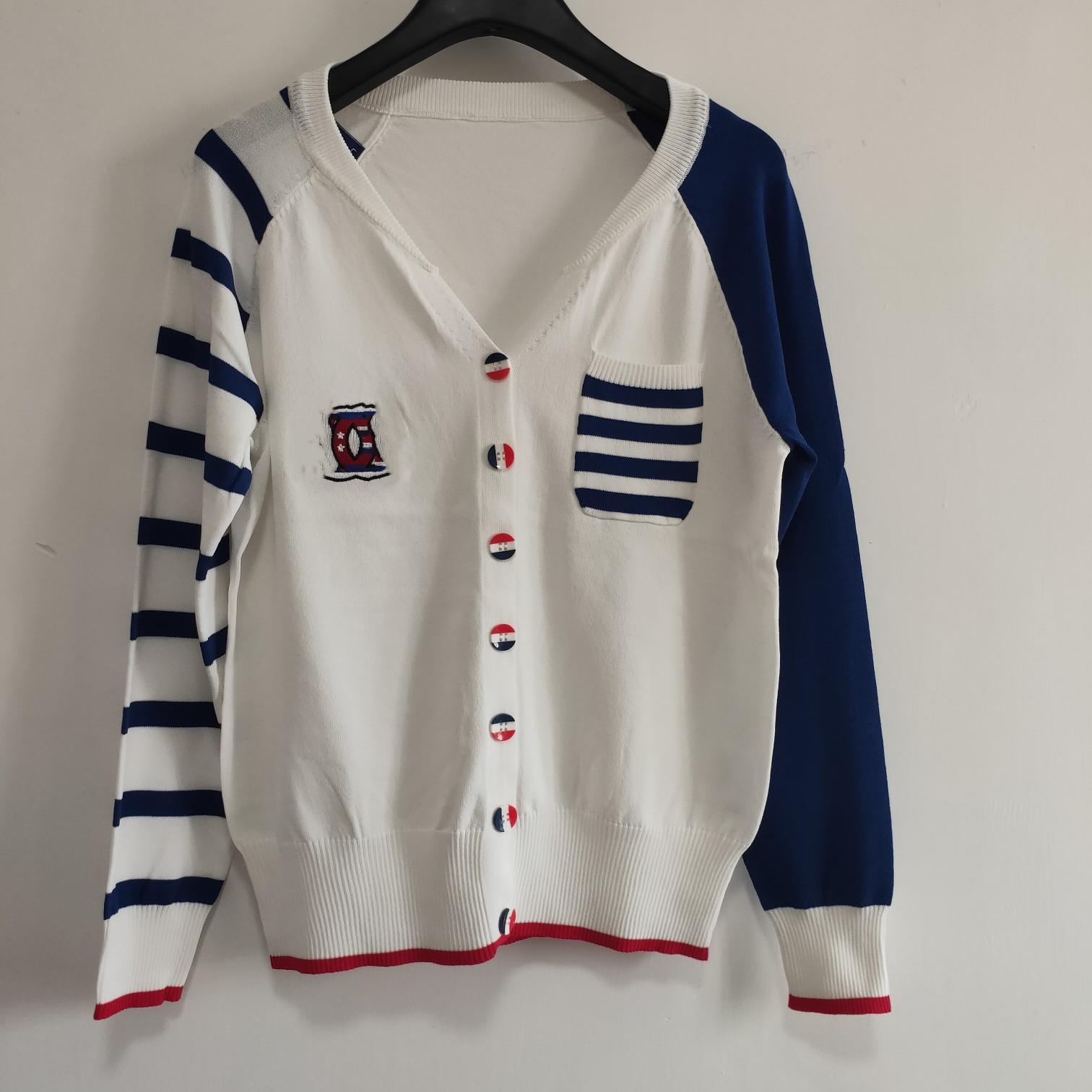 Milan Runway Pullover 2020 langen Ärmeln V-Neck Frauen-Pullover High End Jacquard Strickjacke Frauen Designer Sweater 0422-11