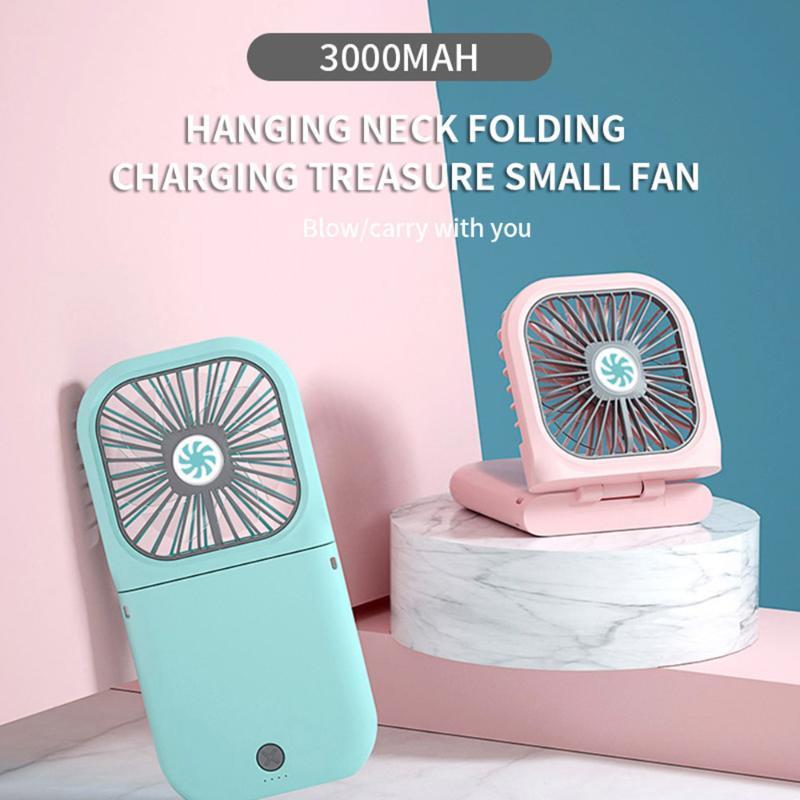 Nouveau style Halter Fan Mini USB pliant portable petit ventilateur Long Lasting Mini Portable Batterie main