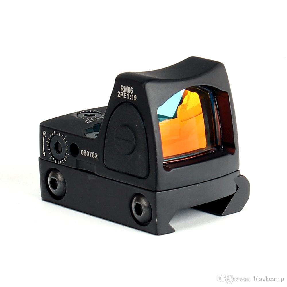 Tacticla 1X Мини RMR Red Dot Sight Reflex Scope Picatinny Weaver Rail Mount Для Airsoft охотничьего ружья Прицел