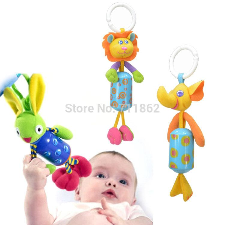 sozzy cute Baby bed car Hanging Ring Bell Rattle soft Toys animal Wind chimes style for child kis 50% off