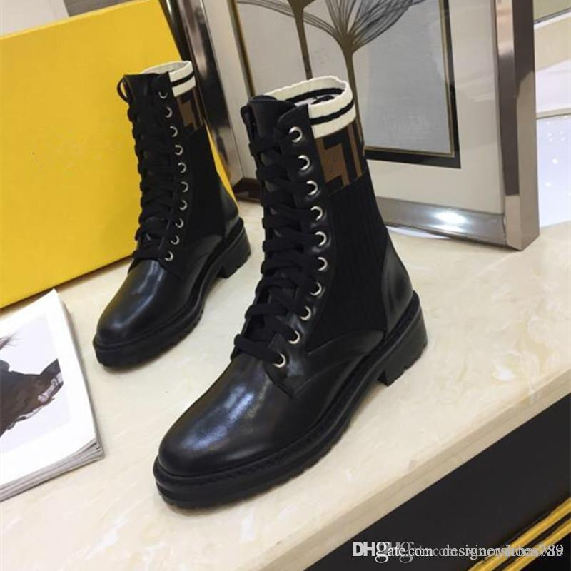 2018 Fashion Luxury Designer Damenschuhe Mid Stiefel Superstar New 2018 Retros starke Ferse Stiefel Luxus Schuhe der Frauen Qualitäts-Boots