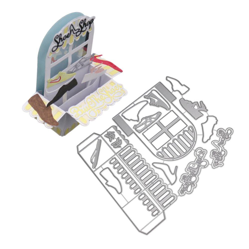 Caixa de Presente da Janela 3D Cortes De Metal Cortando Morre Para Scrapbooking Embossing Die Cut para Cartões Fazer Snijmal en Embossing Troqueles