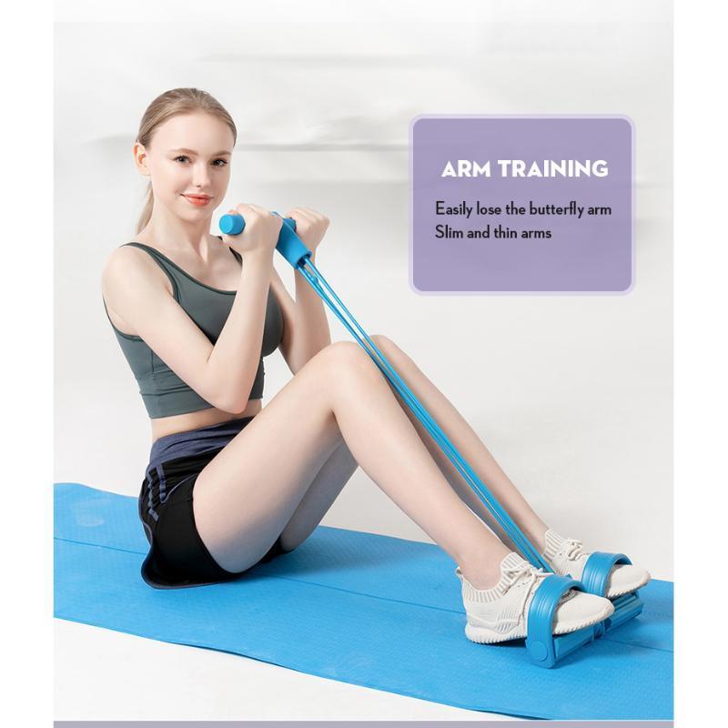 Bande 4 Tirare Resistanc elastico Corde vogatore della pancia della fascia di resistenza Home Gym Sport elastiche per attrezzi Fitness