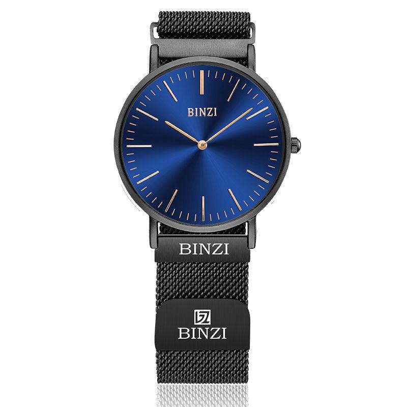 New Men's Business Watch of 2018 Creative Explosion Net Ultra-thin Belt Watch