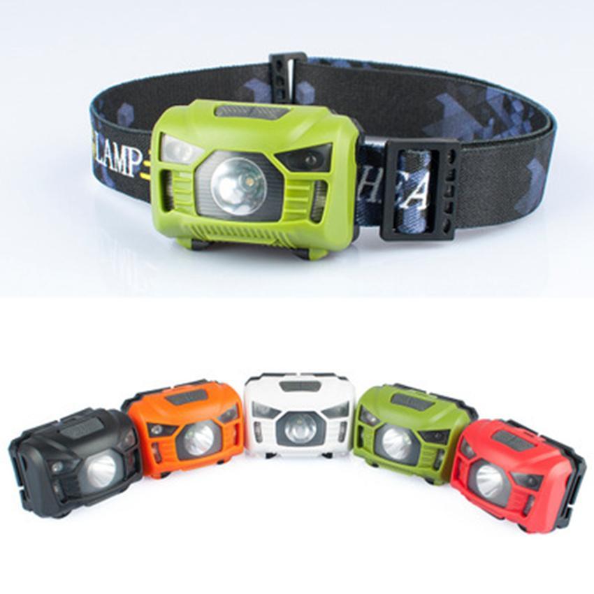 LED Farol Corpo Sensor De Movimento Mini Farol Recarregável Ao Ar Livre Lanterna Camping Cabeça Tocha Da Lâmpada Com USB ZZA864