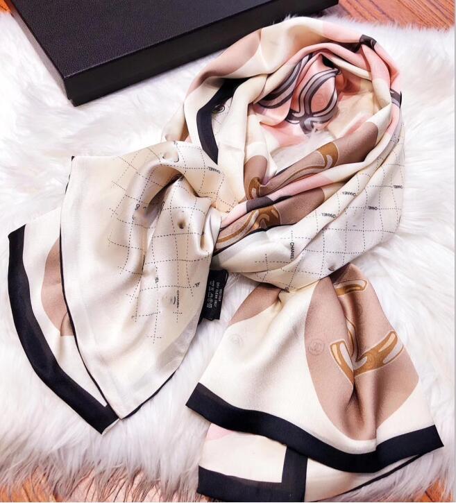 le stagioni Primavera fashiofour sciarpa universale di alta qualità doppio raso + chiffon scialle stanza condizionata aria must-have 5 colori sciarpe di design