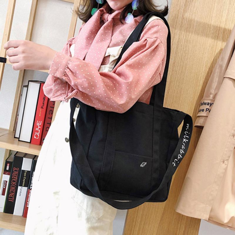 Donne Borse Big Capacity Canvas Bag Vintage donne della chiusura lampo Shoulder Bag Messenger svago Crossbody Bags Pouch #YJ