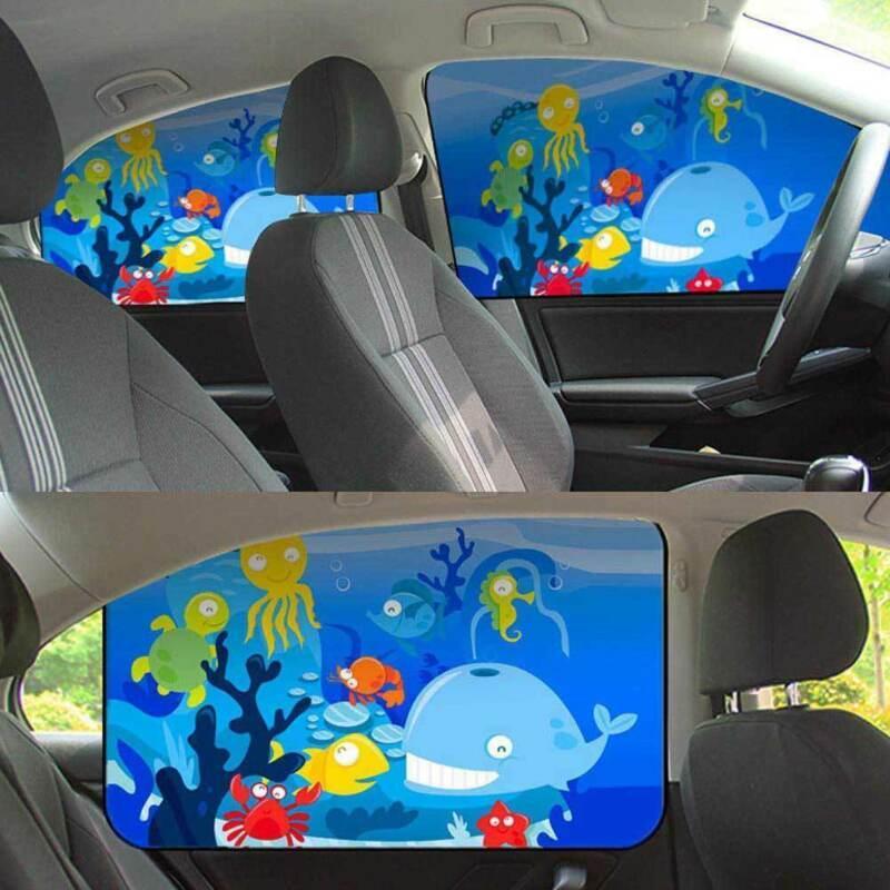 2019 1X Evrensel Karikatür Manyetik Bebek Arabası Pencere Güneş Gölge Siperlik Perde Çocuk Yan Shield SUV