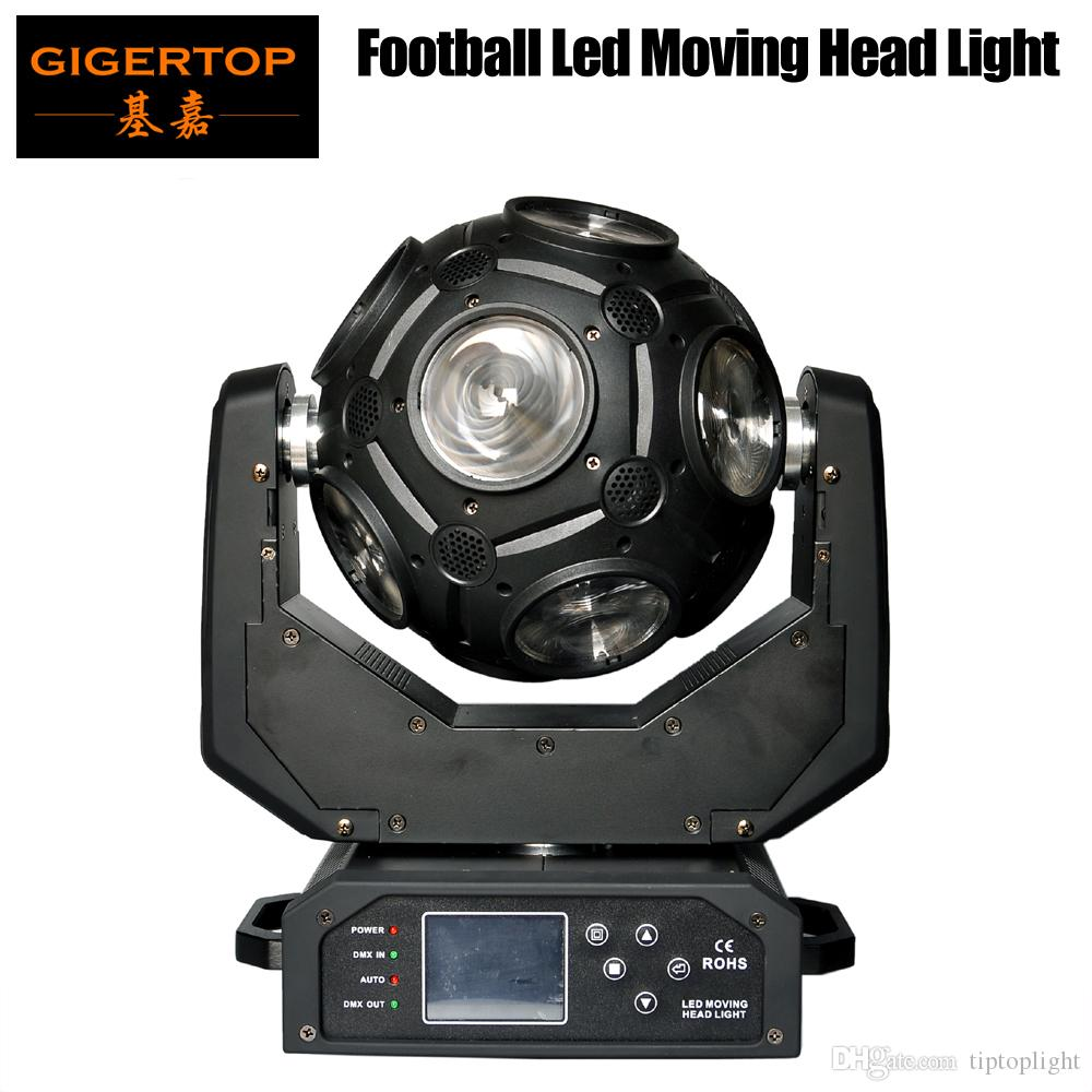 Freeshipping 12x20w Futebol LED Moving Head Light RGBW 4IN1 LEDs Ultimate Stage Beam Efeito 21 canais 4 graus lente LED Display