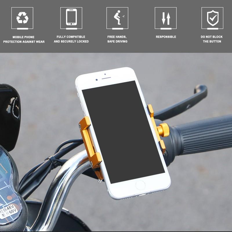 Aluminum Alloy Bike Mobile Phone Holder Stand Cycling Bicycle Motorbike Bracket