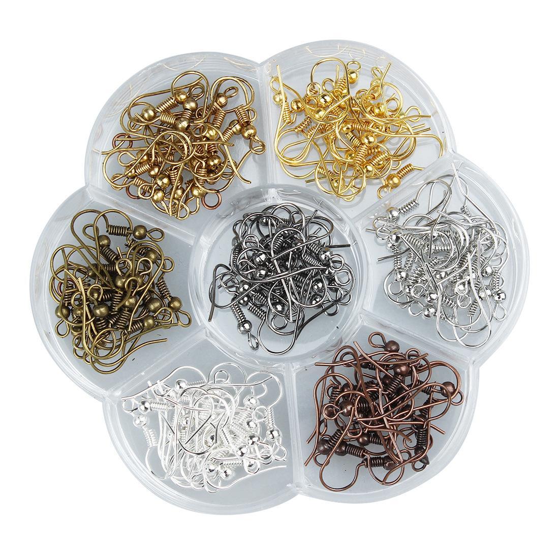 140 pièces / Lot boucle d'oreille crochets accessoires bijoux Constats crochets boucle d'oreille de gros pièces Bijou Composants pour boucles d'oreilles
