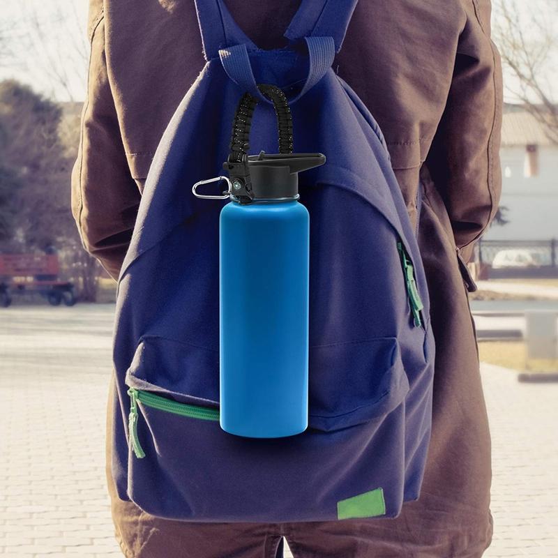 Ampio coperchio bocca Paglia e fondo manica di avvio per 32oz e bottiglia 40oz di acqua di sport, più anello di sicurezza, 2 di ricambio Guarnizione, 2 Str