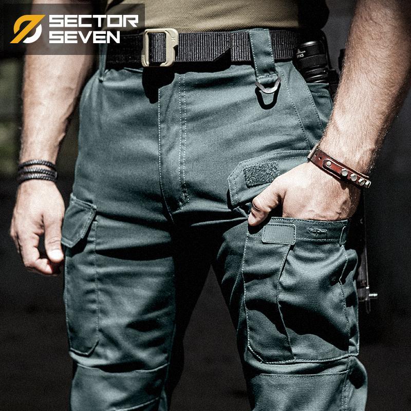 2018 New IX5 pantalons cargo tactique pantalon décontracté hommes combat SWAT armée travail militaire actif coton hommes Pantalons mensLY191112