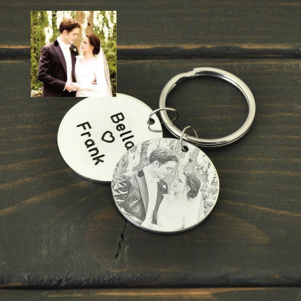 Personalizado Imagem Keychain, Presente Da Foto personalizada para ele, Nome Gravado Keychain, Presente de Natal, Presente de Aniversário, Presente para o amante