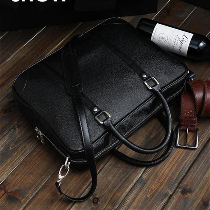Factory direct sales brand men bags handbags leather men business fashion mens computer bag cross section joker business men leather bag
