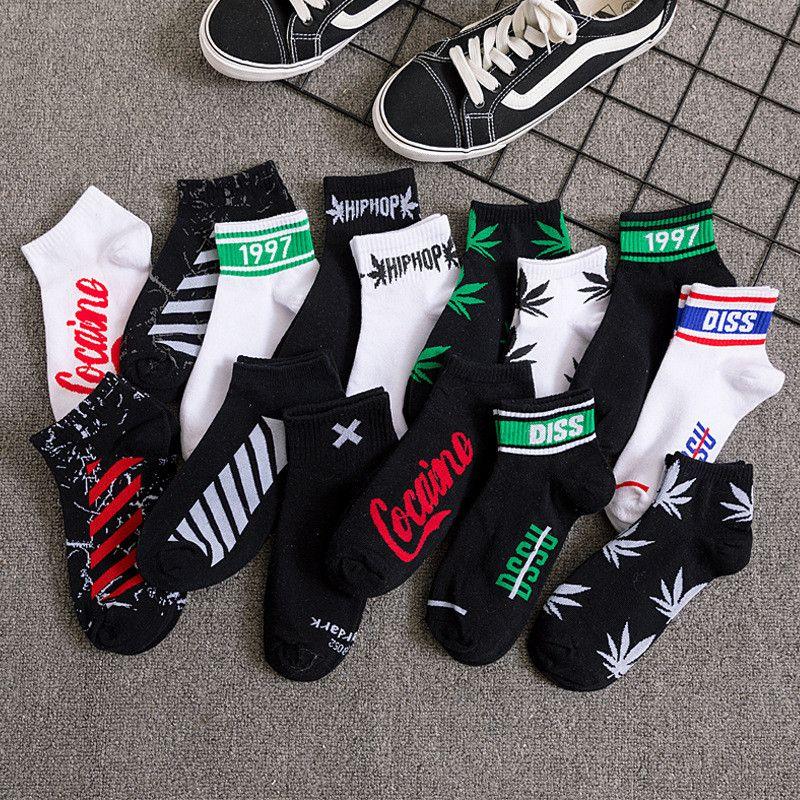 Männer Frauen kurze Socken Unisex Socken Im Freien Sport Basketball Cheerleader Socken Multicolors Hip-Hop-Straße Erwachsener Socke