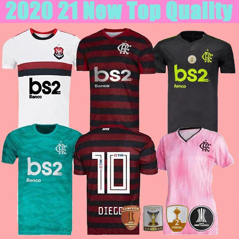 Kostenloser Versand Brasilien 19 20 Flamengo Fußball-Jersey-Flämischen GUERRERO DIEGO VINICIUS JR Thailand Fußball-Trikots GABRIEL B Fußball Herren Hemden