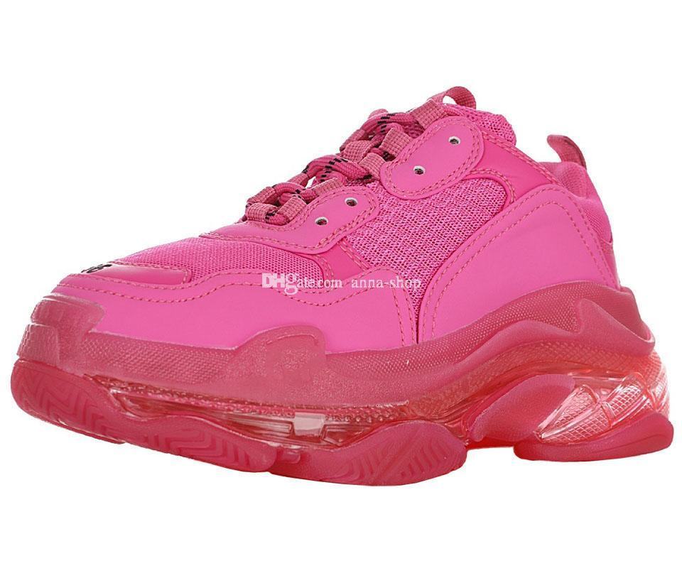 Triple S Clear Sole Sneaker for Men's Pride Pack Sneakers Mens Designer Chunky Womens TripleS Sports Shoes Women's Triple-S Luxury Fashion
