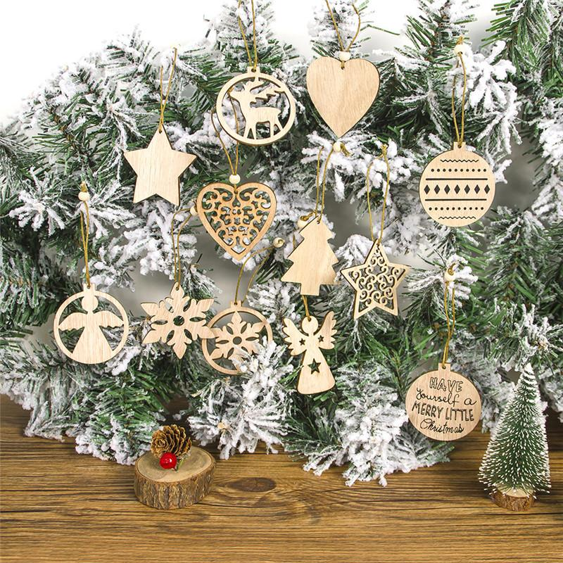 Vintage Christmas Wooden Pendants Ornaments Diy Wood Crafts Xmas Tree Ornaments Christmas Party Decorations Kids Gift Home Christmas Decorations Home Christmas Ornaments From Yueji 21 94 Dhgate Com