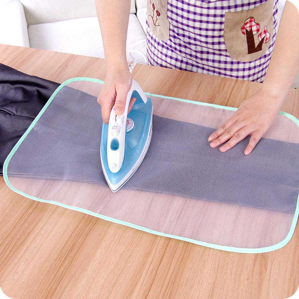 2019 Bügelbrettbezug Protective Presse Mesh-Eisen für Bügeltuch-Schutz schützen empfindliche Kleidungsstück Kleidung 2 Größen