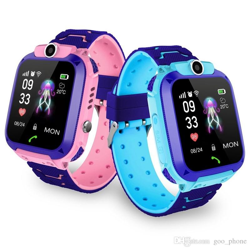 Free DHL Q12 new water-resistant Kids phone watch children smart phone positioning watch For students Superior Kids