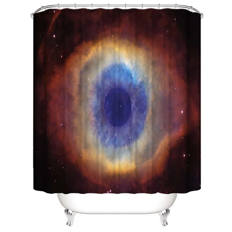 Universe Deep Eyes Star Planet Starry Sky auspicious clouds Waterproof Shower Curtains 3D Digital Printing Bathroom Curtains With Rings