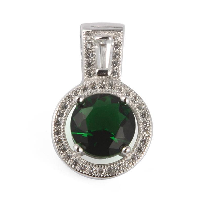 SHUNXUNZE sumptuoso natal pingente de prata esterlina 925 mulheres nobres para o presente encantos Jóias dropshipping verde escuro Cubic Zirconia S-3784