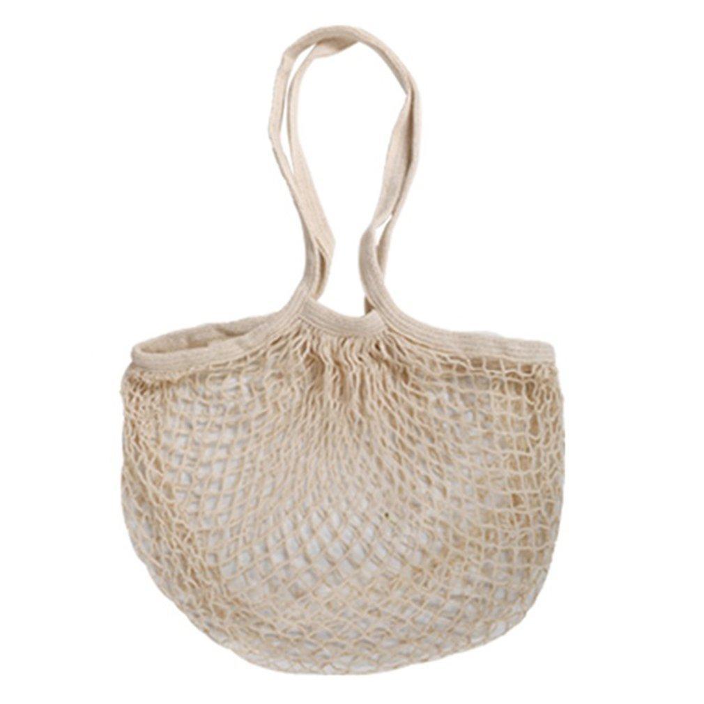 Reusable Cotton Mesh Produce Bags Fruit Vegetables Storage Bag Drawstring Shopping Bag
