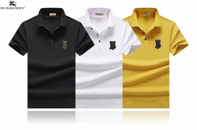 2019 короткие рукава футболки мужского отворота тенденции мода мужской высокий класс красивый дышащий пот-абсорбент пуловеры A1070