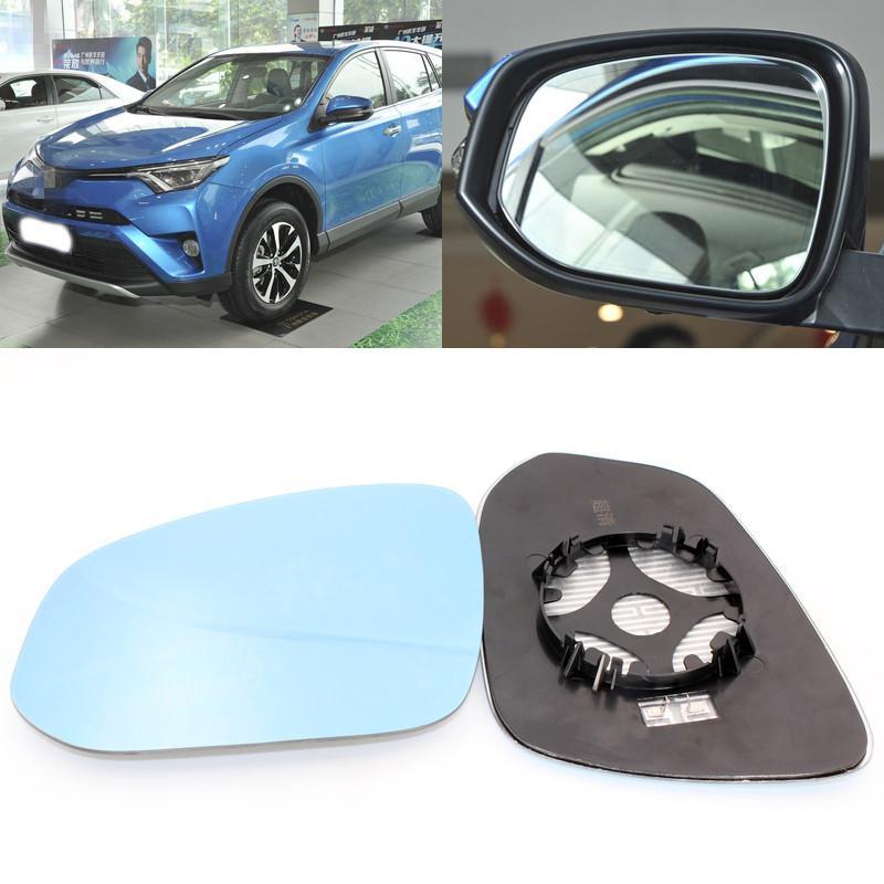 Pour Toyota RAV4 grand champ de vision miroir bleu chauffage miroir anti rétrovision modifiée objectif grand angle d'inversion de réflexion